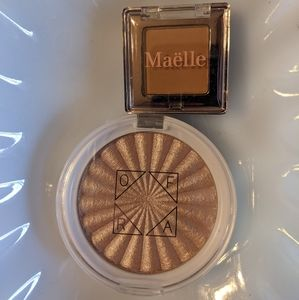 OFRA highlight + Maëlle eyeshadow